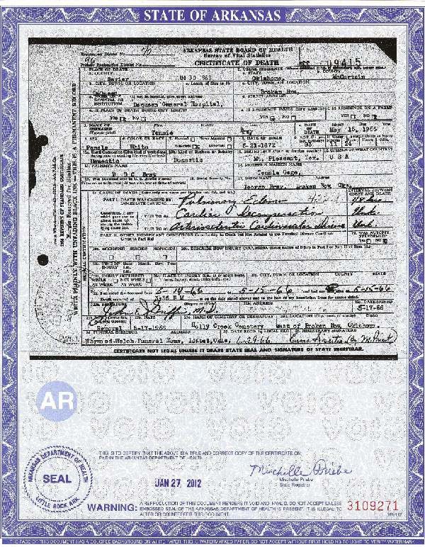 death certificates – sources created under stress and grief ...