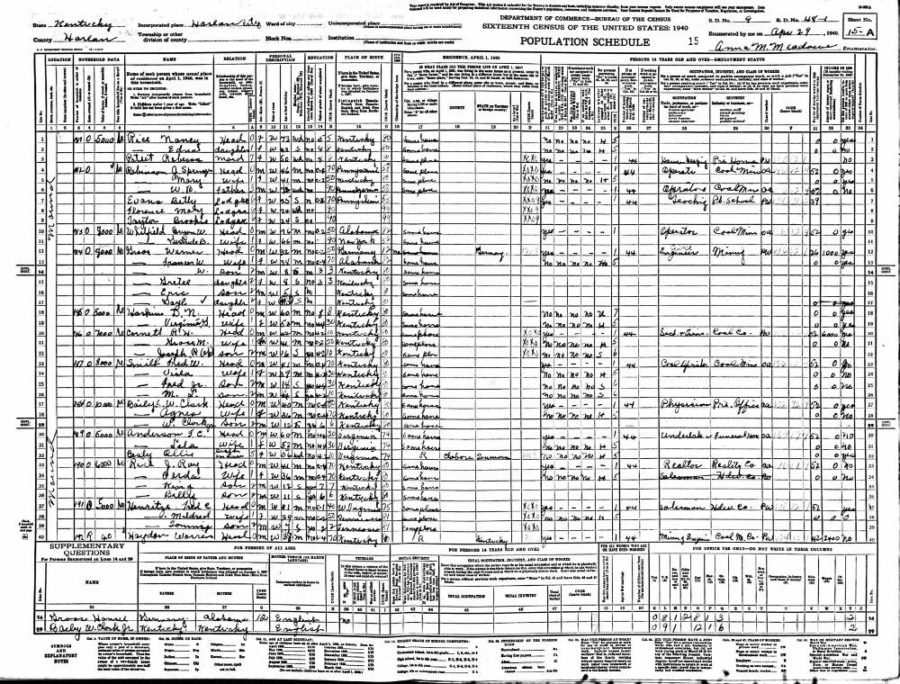 It's Here, the 1940 Census