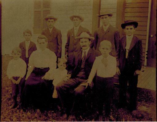 Eight of Nine Breitenstein Brothers Photo ca. 1906
